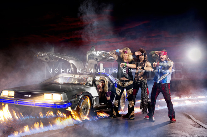 STEEL PANTHER BTTF copyright image JOHN McMURTRIE